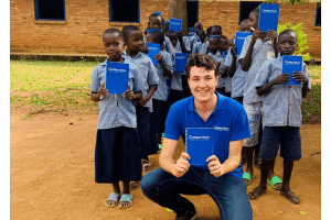 500.000 children provided with erasable writing material!