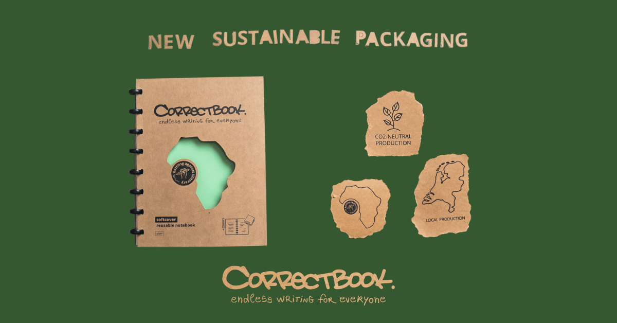 Sustainable and new look for Correctbook